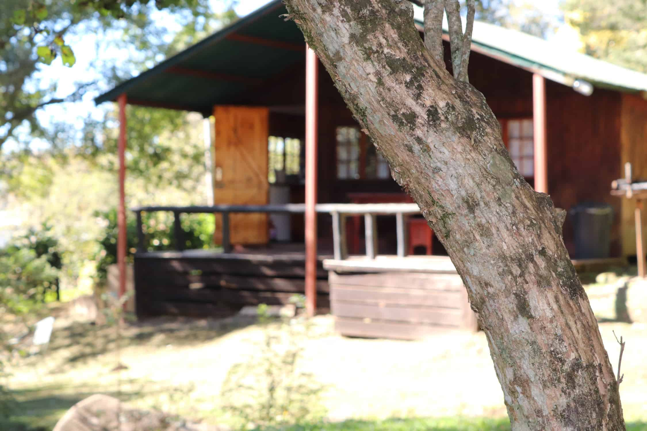 Wooden cabin accommodation in midlands meander kzn