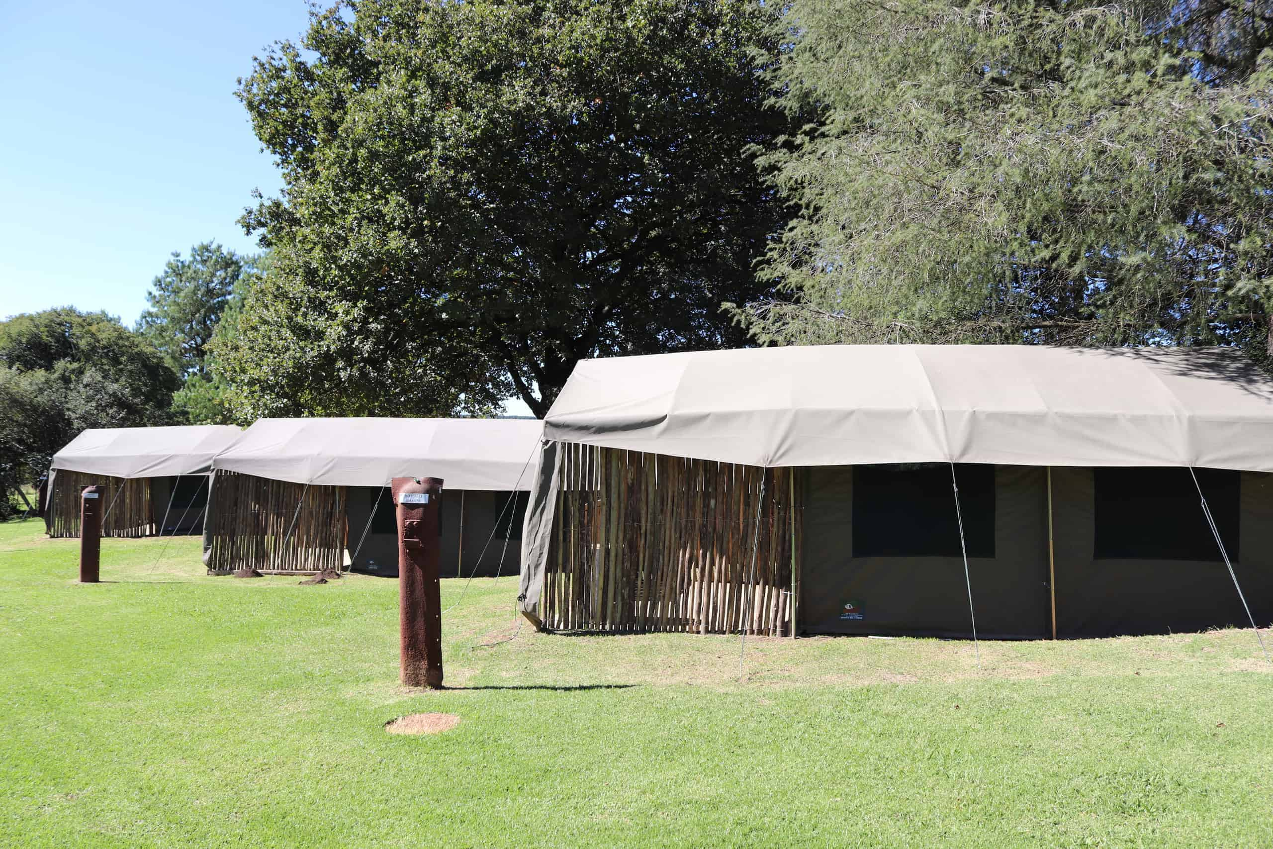 Tent and camping site in Kwazulu Natal Midlands